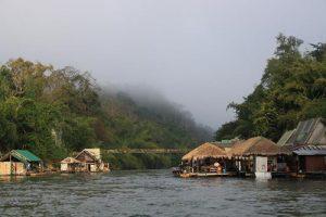 Fluss Raft Haus kanchanaburi