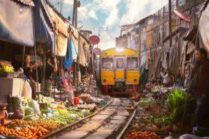 Maeklong Zug Markt