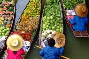 Tha Kha Schwimmender Markt